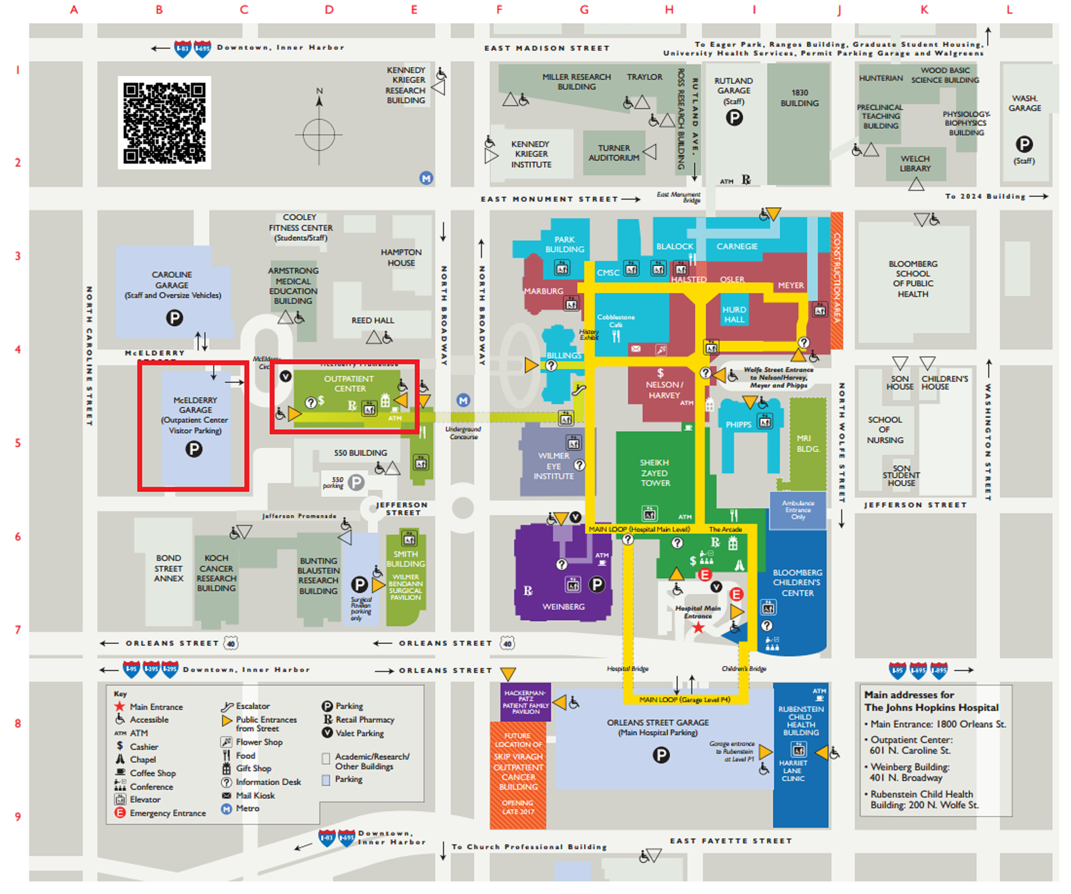 Johns Hopkins Hospital Map Johns Hopkins Hospital Campus Map | World Map Interactive