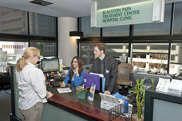 Blaustein Pain Treatment Center Sign-In Desk