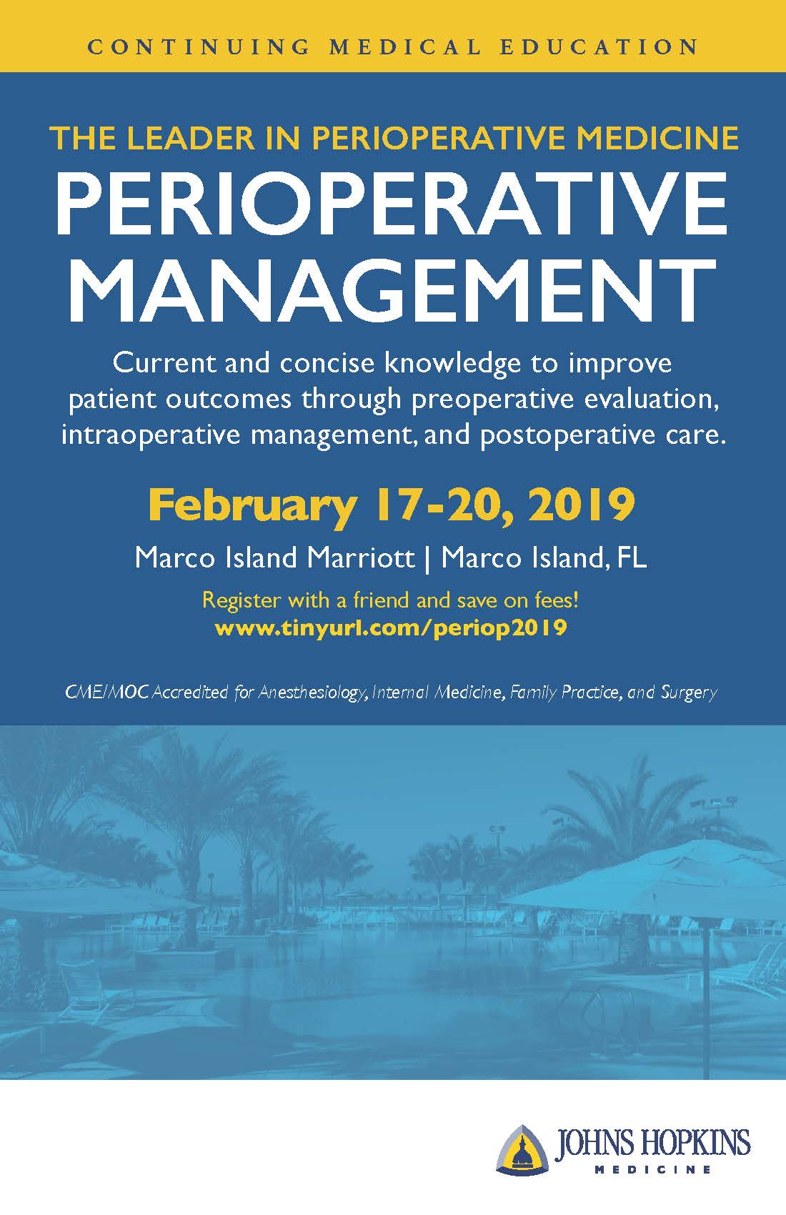 Perioperative Management Course 2019 – Johns Hopkins
